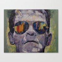 frankenstein Canvas Prints featuring Frankenstein by Michael Creese