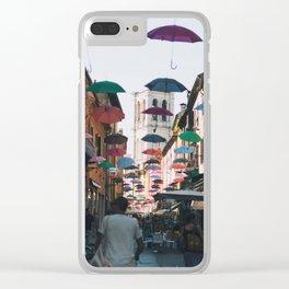 Umbrellas of Ferrara II Clear iPhone Case