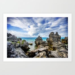 Tobacco Bay Beach, Bermuda Art Print