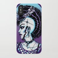 punk rock iPhone & iPod Cases featuring Punk Rock Girl by Eeriette