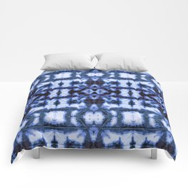 Blue Oxford Shibori Comforters