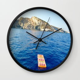 Floating on the ocean  Wall Clock