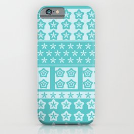 Japanese Style Kawaii Stars Patchwork 2 iPhone Case