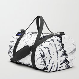 White tiger Dots Duffle Bag