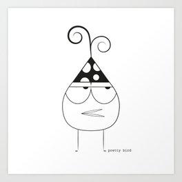 Birthday Bird Art Print