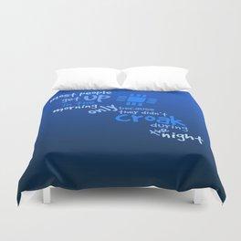 Croak-Blue Duvet Cover