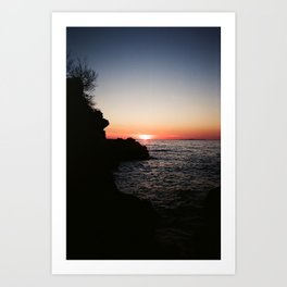 Dalmatian sunset Art Print