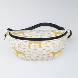 Big Yellow Dog and Paw Prints Fanny Pack
