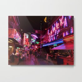 Bangkok red light Metal Print