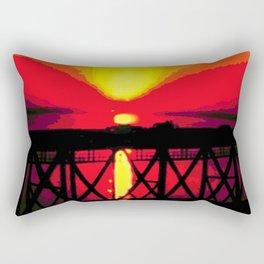 Sunset On The Bay Bridge Rectangular Pillow