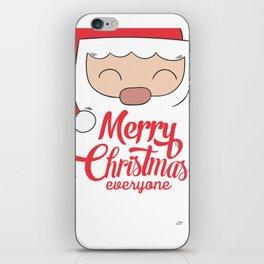 Merry Christmas everyone iPhone Skin