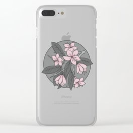 Sakura Branch - Ballet Slipper + Neutral Grey Clear iPhone Case