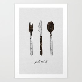 Just Eat It, Music Quote Art Print