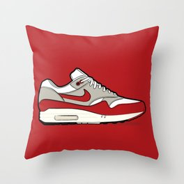 """NIKE Air Max 1 """"OG Red"""" Throw Pillow"""
