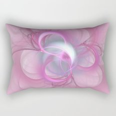 Pink Abstract Fractal on Pink Rectangular Pillow