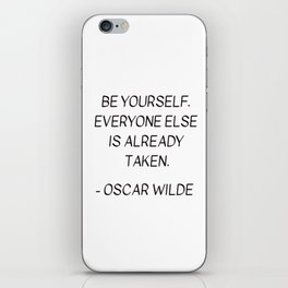 BE YOURSELF - OSCAR WILDE iPhone Skin