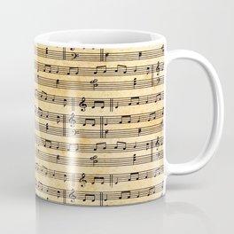 Aged Music Sheet Coffee Mug