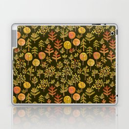 Watercolor autumn forest in doodle style Laptop & iPad Skin