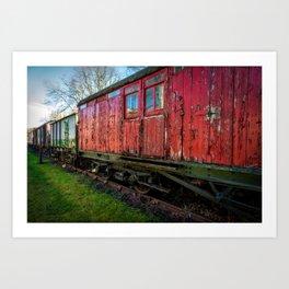 Old Train Wagon Art Print