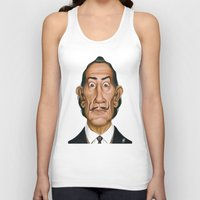 celebrity Tank Tops featuring Celebrity Sunday ~ Salvador Dali by rob art | illustration
