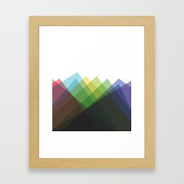 Fig. 002 Colorful Mountains Framed Art Print