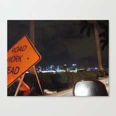 Road Work Ahead Canvas Print