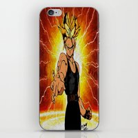 dragonball iPhone & iPod Skins featuring Dragonball Z Trunks sketch colored by bernardtime
