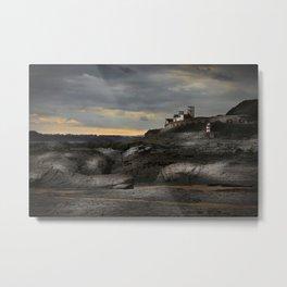 Steampunk / Burtonesque Coastal Fort Metal Print