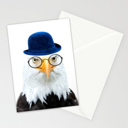 Funny Eagle Portrait Stationery Cards