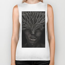 Tree man. Double exposure portrait by T.Amrein Biker Tank