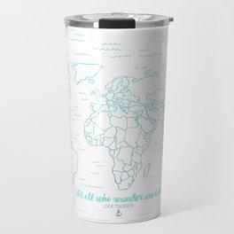 Where We've Been, World, Icy Blue Travel Mug
