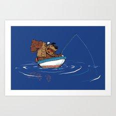 Bear Fishing Art Print
