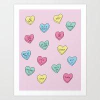 Anti Candy Hearts Art Print
