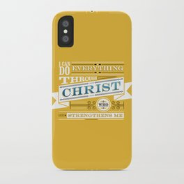 Philippians 4:13 iPhone Case