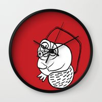beaver Wall Clocks featuring Beaver by JuPON