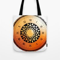 persona 4 Tote Bags featuring Persona Q Clock by Laharl