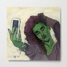 Goblin Girl Cell Phone Selfie Metal Print