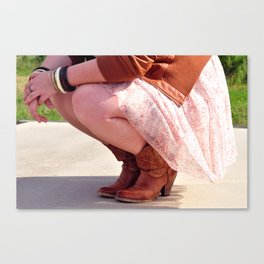 Witcover Street - Boots On Concrete Canvas Print