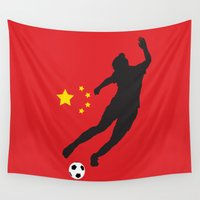 china Wall Tapestries featuring China - WWC by Alrkeaton