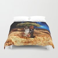 valentines Duvet Covers featuring Valentines - Partying in Paradise by Khana's Web