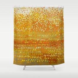 Landscape Dots - Orange Shower Curtain