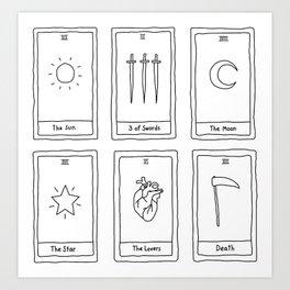 minimalist tarot cards Art Print