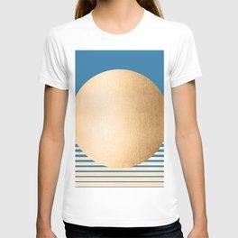 Sun Gradient - Orange Sherbet Shimmer on Saltwater Taffy Teal T-shirt