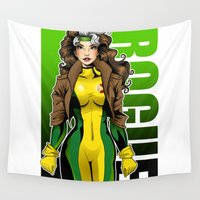 rogue Wall Tapestries featuring Rogue by Genevieve Kay