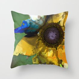 Modern Flower Art - Untamed Beauty - Sharon Cummings Throw Pillow