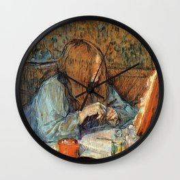 """Henri de Toulouse-Lautrec """"Madame Poupoule at Her Dressing Table"""" Wall Clock"""