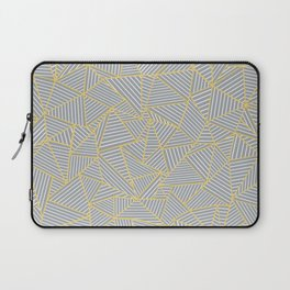 Ab Outline Gold and Grey Laptop Sleeve