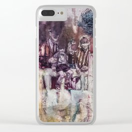 Shifts and Cracks (The Gates of Yesod) Clear iPhone Case