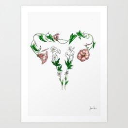 flower uterus Art Print