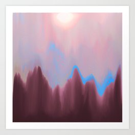 Mountain Heart Art Print